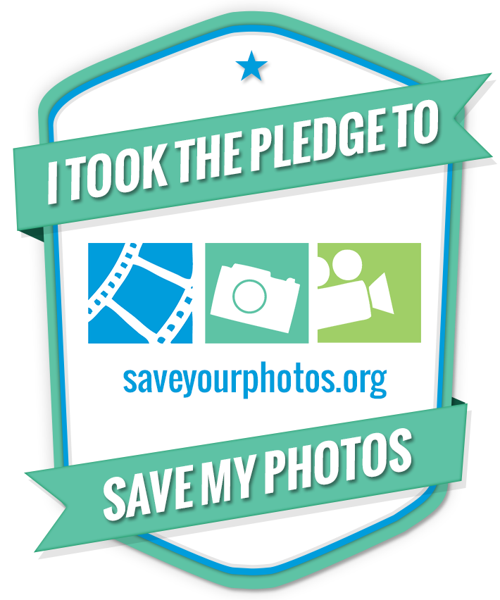 I took the pledge to save my photos